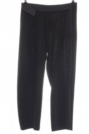 Cotélac Anzughose schwarz Casual-Look