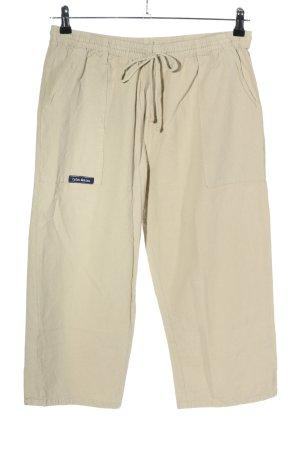 Coton Marine Pantalón tobillero blanco puro look casual