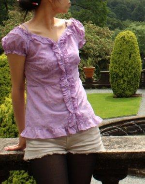 cottagecore blouse mit print