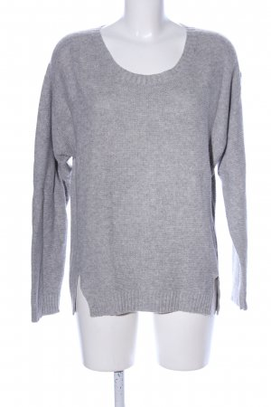 Cottin Strickpullover hellgrau meliert Casual-Look