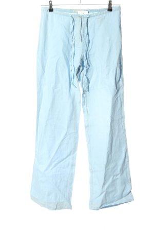 cotton belt Leinenhose türkis Casual-Look