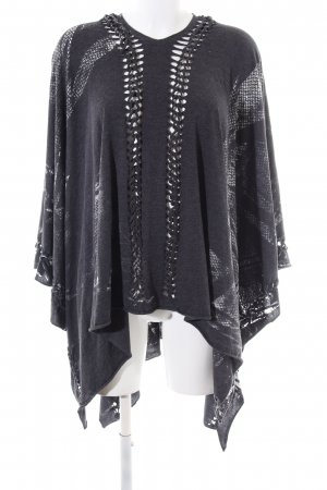 Cotton Candy Cape black-light grey allover print casual look