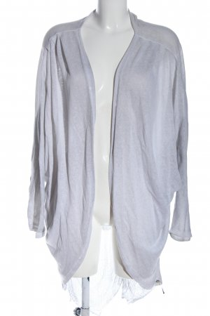 Cotton Candy Cardigan light grey flecked casual look