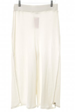 Cotton Candy Pantalone culotte bianco sporco stile professionale