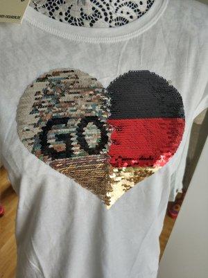 Cotton Candy Fan T-Shirt Wendepailletten !NEU!