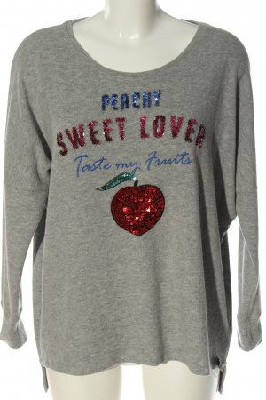 Cotton Candy Fine Knit Jumper light grey flecked casual look