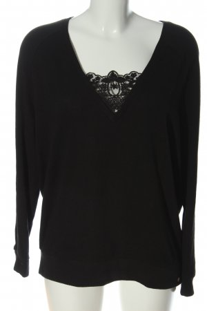 Cotton Candy Fine Knit Jumper black casual look