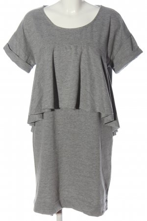 Cotton Candy Shortsleeve Dress light grey flecked casual look