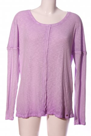 Cotton Candy Langarm-Bluse lila meliert Casual-Look