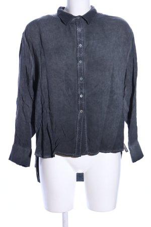 Cotton Candy Langarm-Bluse hellgrau Casual-Look