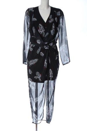 Cotton Candy Longsleeve Dress black-white allover print elegant