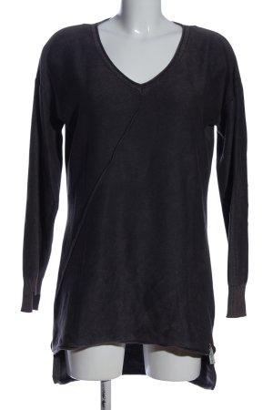 Cotton Candy Maglione con scollo a V nero stile casual