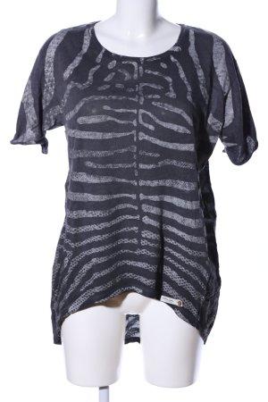 Cotton Candy Camicia lunga blu-grigio chiaro stampa integrale stile casual
