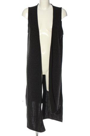 Cotton Candy Gilet long tricoté noir style décontracté