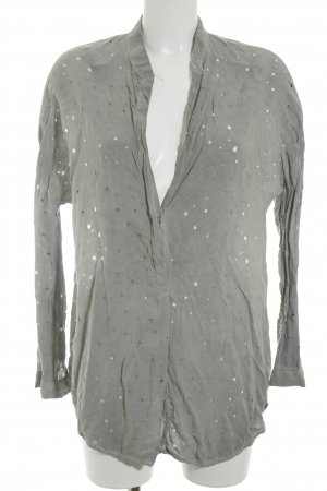 Cotton Candy Oversized Bluse grau Casual-Look