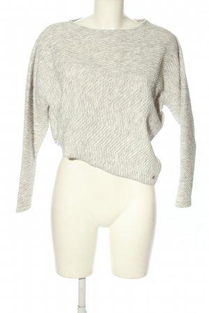 Cotton Candy Oversized Pullover hellgrau meliert Casual-Look