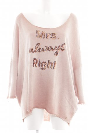 Cotton Candy Oversized Sweater pink casual look