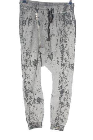 Cotton Candy Pantalone bloomers grigio chiaro motivo astratto stile casual
