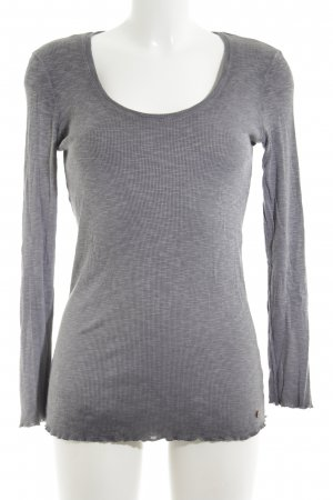Cotton Candy Ribbed Shirt light grey flecked casual look