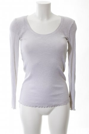 Cotton Candy Ribbed Shirt light grey casual look