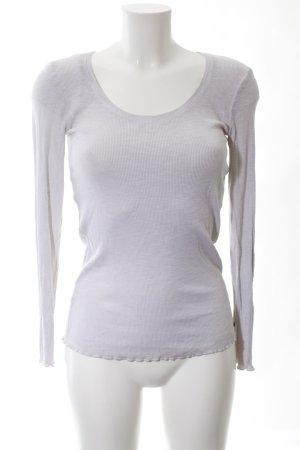 Cotton Candy Rippshirt hellgrau Casual-Look