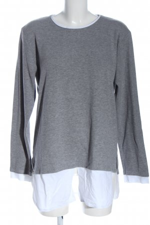 Cotton Candy Crewneck Sweater light grey flecked casual look