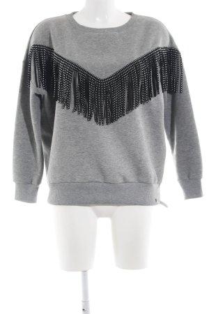 Cotton Candy Maglione girocollo grigio chiaro stile casual