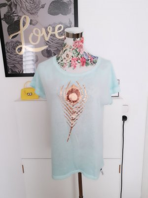 Cotton Candy Shirt Tunic gold-colored-baby blue