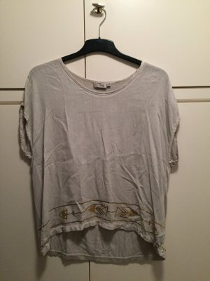 Cotton Candy Oversized Shirt light grey-gold-colored