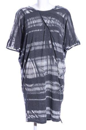 Cotton Candy Shirtkleid schwarz-hellgrau meliert Casual-Look