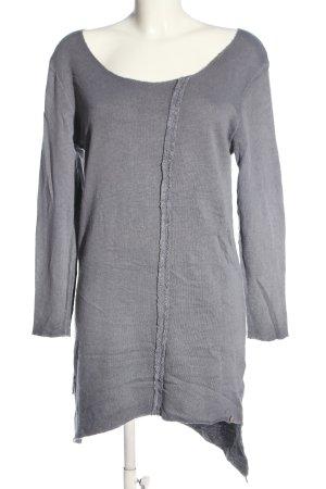 Cotton Candy Abito di maglia grigio chiaro puntinato stile casual
