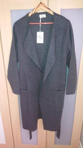 Cotton Candy Abrigo de lana gris oscuro Algodón