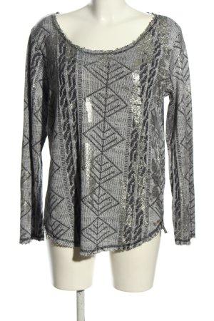 Cotton Candy Maglione lavorato a maglia grigio chiaro-nero motivo grafico
