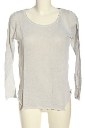Cotton Candy Camicia maglia bianco sporco punto treccia stile casual