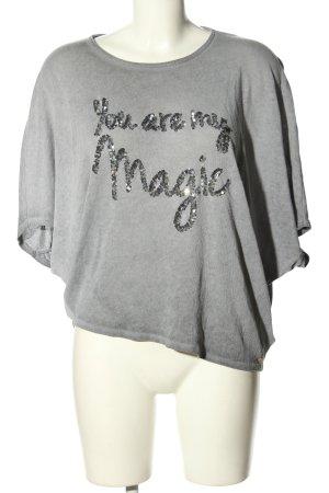 Cotton Candy Camicia maglia grigio chiaro puntinato stile casual