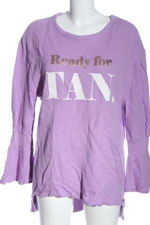 Cotton Candy Sweatshirt Schriftzug gedruckt Casual-Look