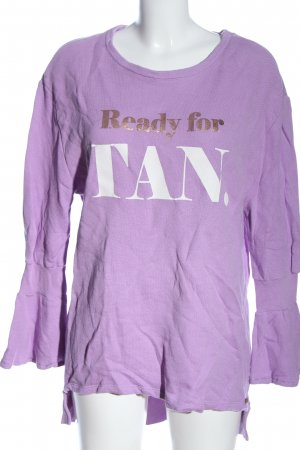 Cotton Candy Sweat Shirt printed lettering casual look