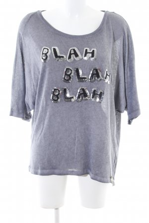 Cotton Candy T-Shirt light grey flecked casual look