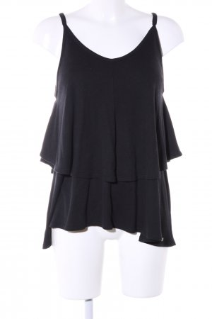Cotton Candy Flounce Top black casual look