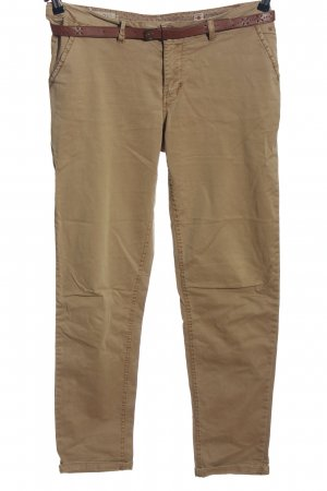 Cotton Club Chinohose braun Business-Look
