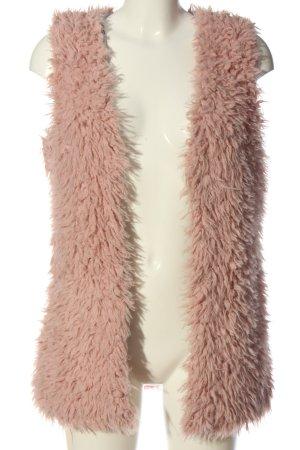 Cotton Club Gilet en duvet rose style décontracté