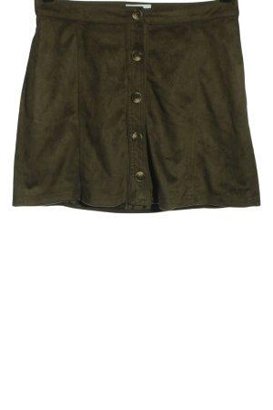 Cotton Club Spódnica z imitacji skóry khaki W stylu casual