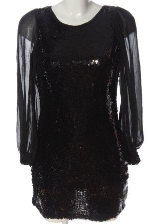 Cotton Club Sequin Dress black extravagant style