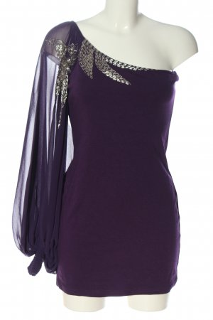 Cotton Club Slip-over Blouse lilac elegant