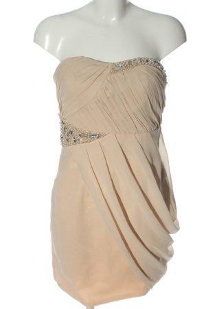 Cotton Club schulterfreies Kleid creme Elegant