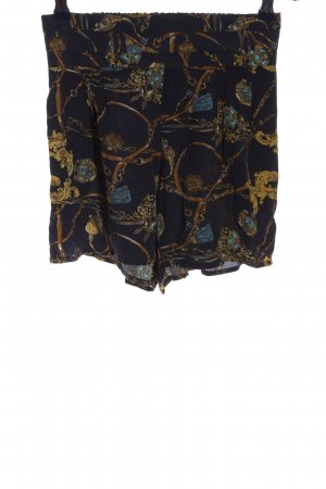Cotton On High-Waist-Shorts black-brown allover print casual look