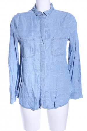 Cotton On Langarmhemd blau Allover-Druck Casual-Look