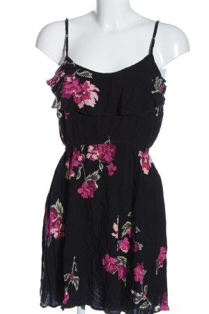 Cotton On Minikleid schwarz-pink Allover-Druck Casual-Look