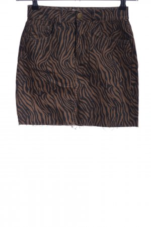 Cotton On Miniskirt brown-black allover print casual look