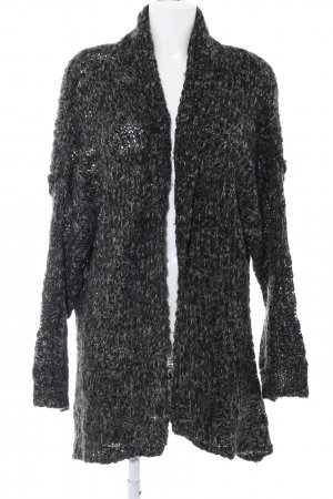 Cotton On Knitted Cardigan black-light grey flecked casual look